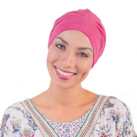 Fuchsia cotton drape night cap