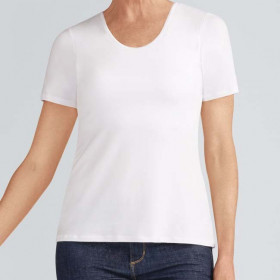 Tee-shirt Valletta avec soutien-gorge intégré Blanc - Amoena