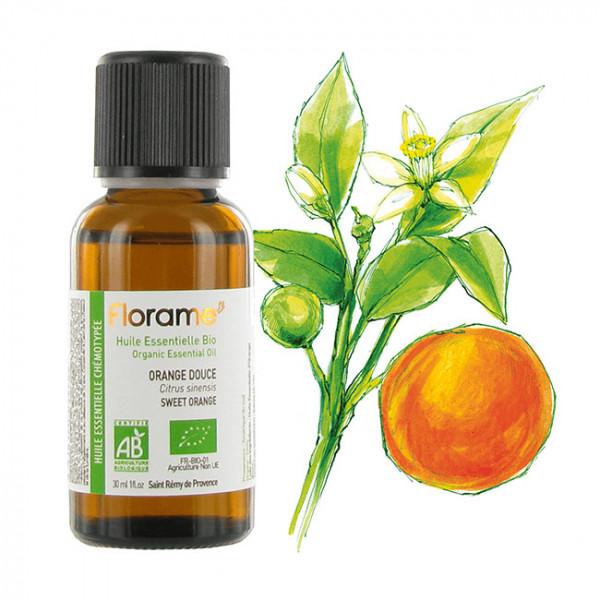 Organic essential oil - Sweet orange - 10ml / 0,3oz - Florame