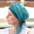 Turquoise Sophia headscarf - Look Hat Me