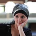 Foulard Sophia gris noir - Look Hat Me