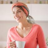 Foulard Sophia brun roux - Look Hat Me